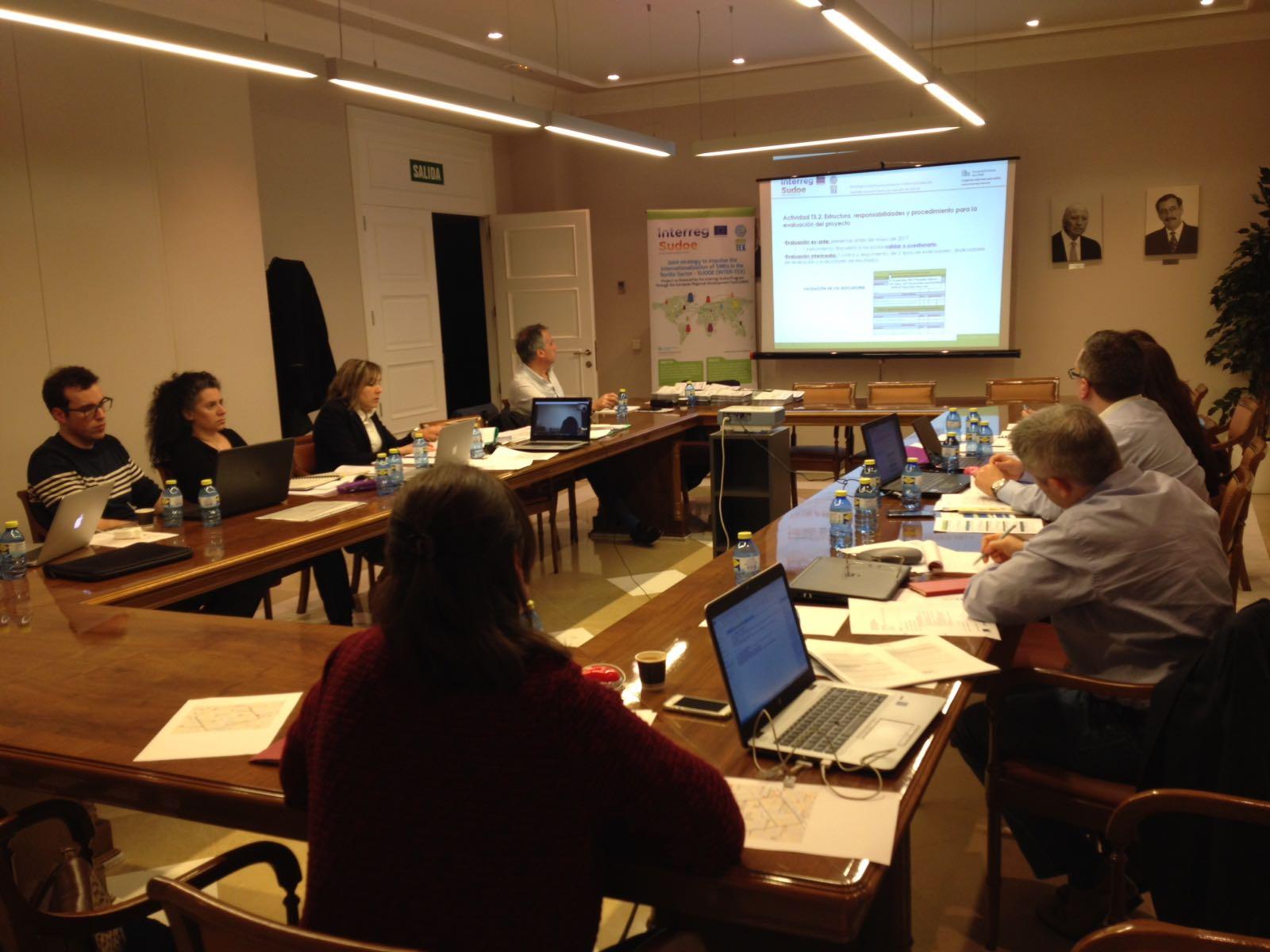 2e réunion transnationale du projet INTER-TEX a eu lieu à Valence Mars dernier